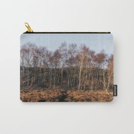 Birch trees basked in warm light at sunset. Upper Padley, Derbyshire, UK. Carry-All Pouch