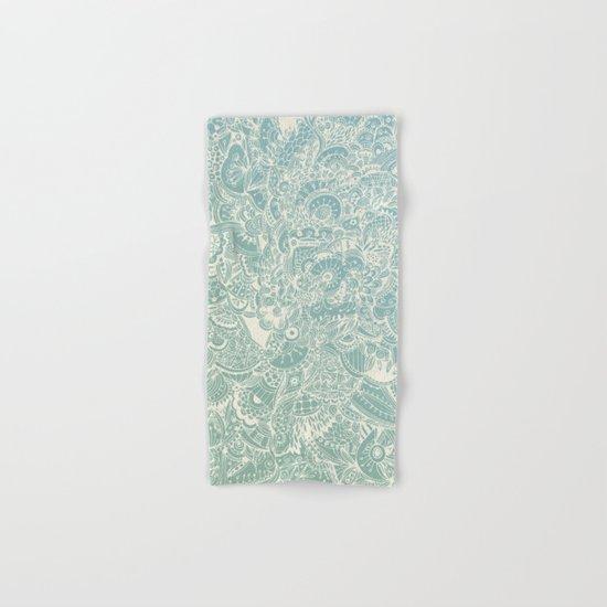 Detailed rectangle, light blue  Hand & Bath Towel