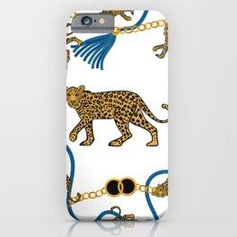 Leopard & chains iPhone Case