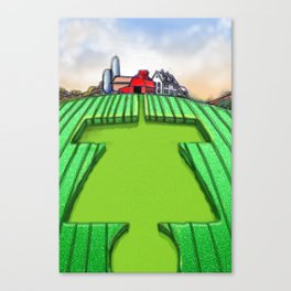 Disc Golf Crop Circles Canvas Print