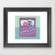 Let's Have Breakfast Framed Art Print