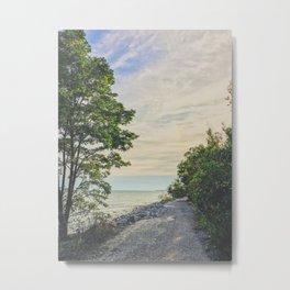 Road side beach Metal Print