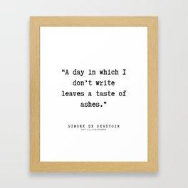 35  | Simone De Beauvoir Quotes | 200115 Framed Art Print