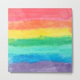 Colorful Watercolors Brush Strokes Metal Print
