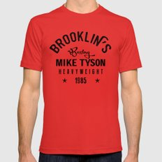 Iron Mike Tyson LARGE Mens Fitted Tee Red