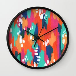 Abstract Warm Turquoise Dream Wall Clock