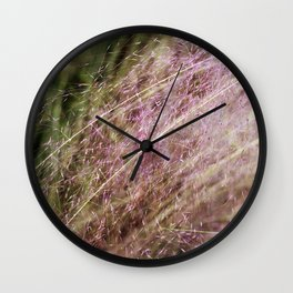 Her whispers were draped in shades of pink. Wall Clock
