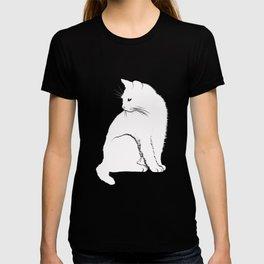 Funny Cat Unisex T-shirt Hipster Swag Dope Black White Mens Womens Cute Festival Halloween T-shirt