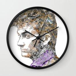 David Tennant Dr. Who Text portrait Wall Clock