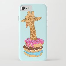 Donuts giraffe iPhone 7 Slim Case
