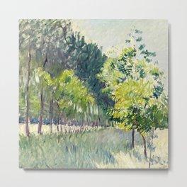 "Gustave Caillebotte ""Allée bordée d'arbres - Alley lined by trees"" Metal Print"