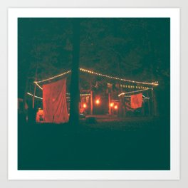 Lady Scout Camp Out & Exhibit Art Print