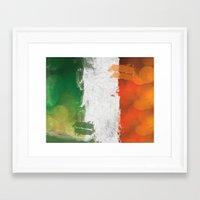 ireland Framed Art Prints featuring Ireland by Fresh & Poppy