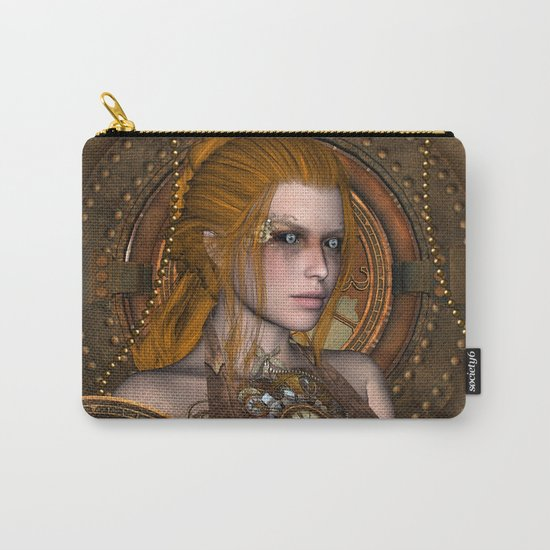 Steampunk, amazing steampunk women Carry-All Pouch