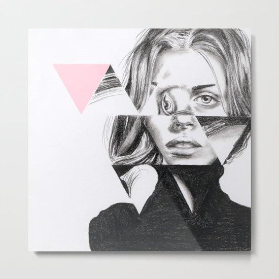 Triangles #1 pale pink Metal Print