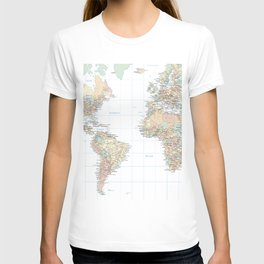 Clear World Map T-shirt