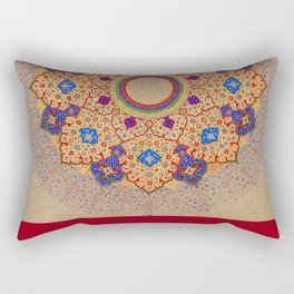 Rubino Mandala Design Pattern Red Rectangular Pillow
