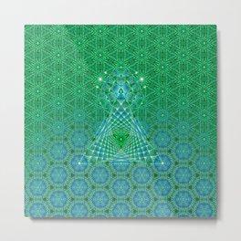 Lifeforms | Sacred geometry Metal Print