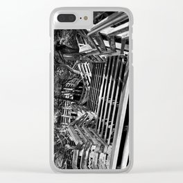 Zig zag stairs Clear iPhone Case