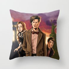 Sunsets Are Cool - Doctor Who Throw Pillow