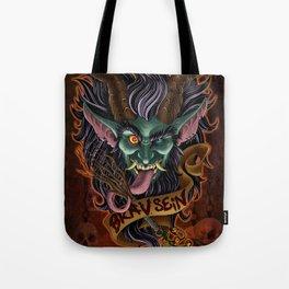 Green Krampus Tote Bag