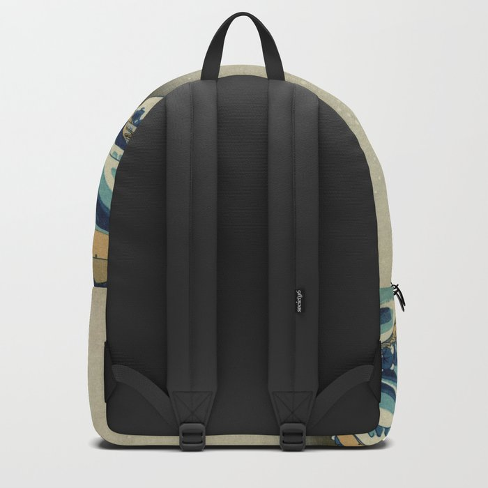The Classic Japanese Great Wave off Kanagawa by Hokusai Backpack