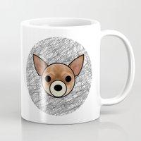 chihuahua Mugs featuring Chihuahua by lllg
