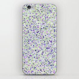 Purple and Green Floral iPhone Skin