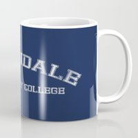 college Mugs featuring Greendale Community College by Skeleton Jack