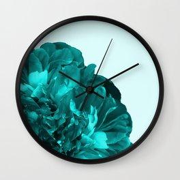 Large Peony in Green Color #decor #society6 #buyart Wall Clock