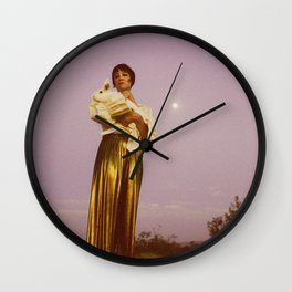A Passing Traveler Wall Clock