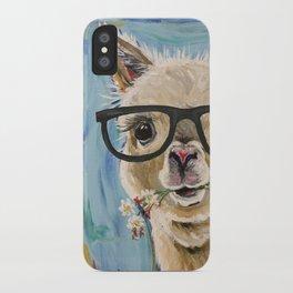 Cute Alpaca With Glasses iPhone Case