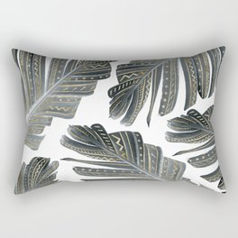 Boho Banana Leaves Glam #2 #tropical #decor #art #society6 Rectangular Pillow
