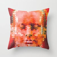 muscle Throw Pillows featuring Muscle Man by Donovan Justice