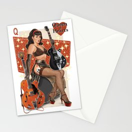 Guitar Girl 'Queen of Hearts' Stationery Cards