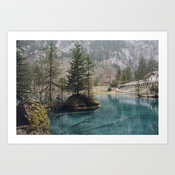 Blausee (Blue Lake) Art Print
