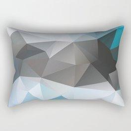Blue Poly Rectangular Pillow