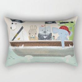 the pirate tub Rectangular Pillow