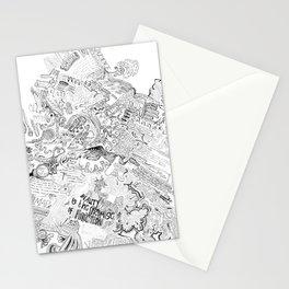Doodle Brainmap Lyrics Stationery Cards