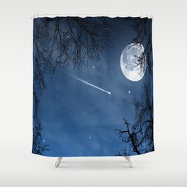 Wandering in the twilight Shower Curtain