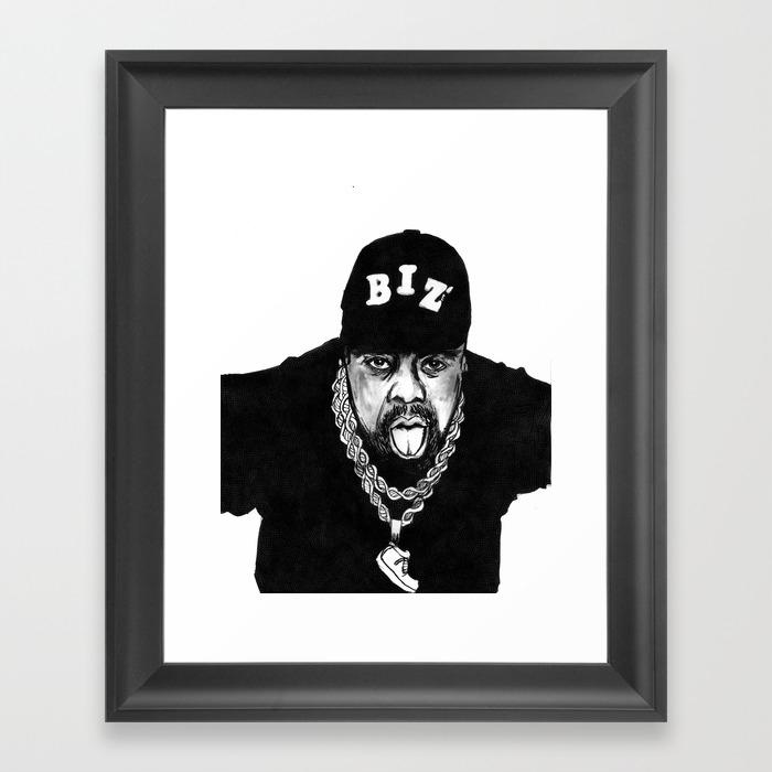 Nobody Beats The Biz Framed Artwork by Zeruch FRM8990771