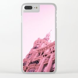 Pink Madrid Clear iPhone Case