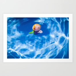 Mermaid in the pool Art Print
