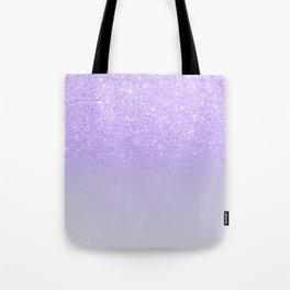 Modern purple sparkles ombre glitter lilac pastel color block Tote Bag