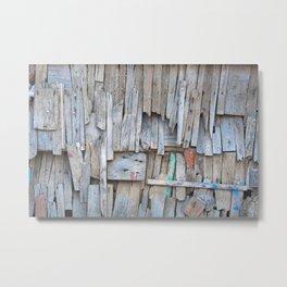 Driftwood Wall Metal Print