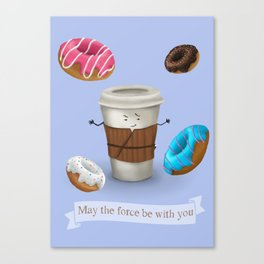 Coffee the force Canvas Print