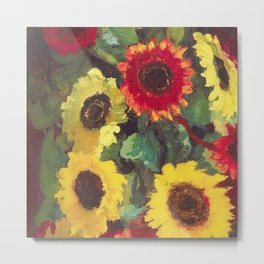 Sunflowers by Emil Nolde Metal Print