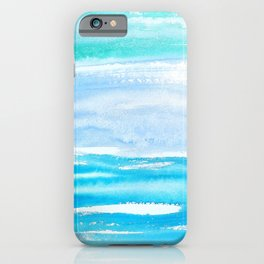 Sea of Tranquility - watercolor painting iPhone Case
