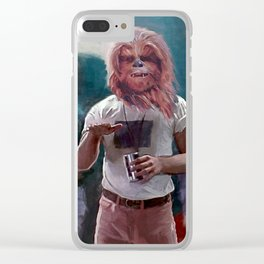 Chewbacca Wookie Dazed And Confused Mash-Up Clear iPhone Case