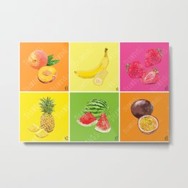 Summer Fruits Metal Print